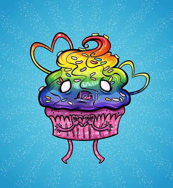 Pride Zombie Cupcake by Jenji