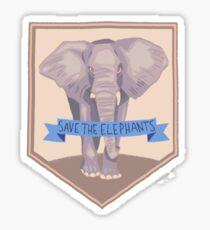 SAVE THE ELEPHANTS PATCH Sticker