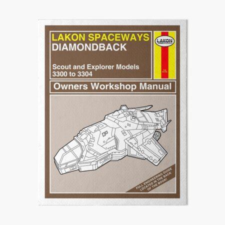 Diamondback Explorer Owners Workshop Manual Art Board Print
