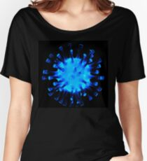 Blue glossy glass sculpture Women's Relaxed Fit T-Shirt