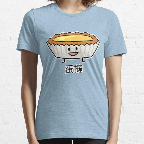 Happy Egg Tart Custard crust Chinese dessert pudding Essential T-Shirt