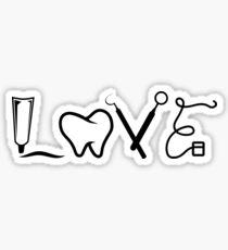 LOVE Dental Babe Hygienist Assistant Gift Lab Tech T Shirt Sticker