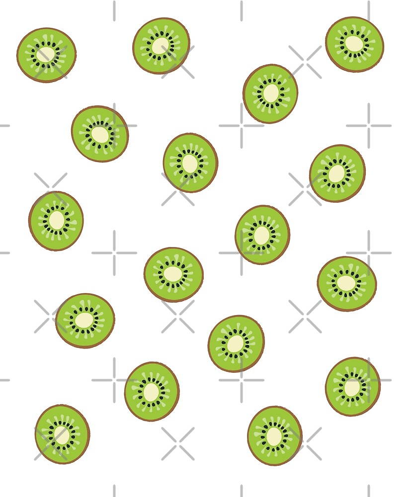 Kiwi Fruit Pattern by designkitsch