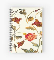 floral pattern on cream Spiral Notebook
