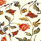 floral pattern on cream by bywhacky