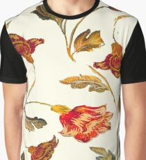 floral pattern on cream Graphic T-Shirt