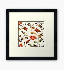 floral pattern on cream Framed Print