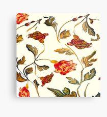 floral pattern on cream Metal Print