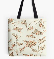 floral pattern on cream no 2 Tote Bag