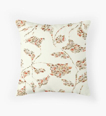 floral pattern on cream no 2 Throw Pillow