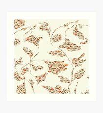 floral pattern on cream no 2 Art Print