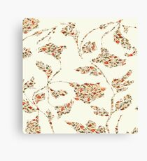 floral pattern on cream no 2 Canvas Print