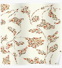 floral pattern on cream no 2 Poster