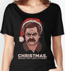 Ron Swanson Christmas Women's Relaxed Fit T-Shirt