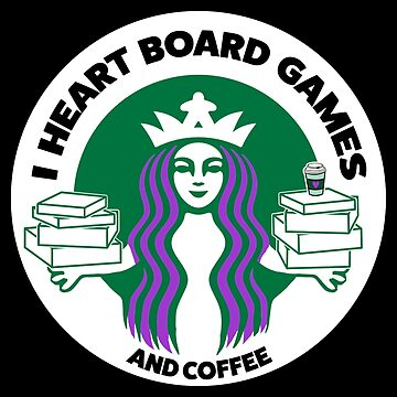 I Heart Board Games and Coffee by HeartBoardGames