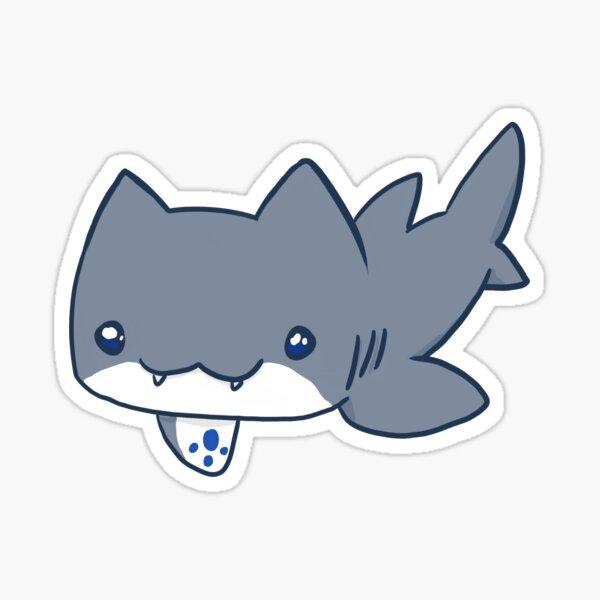 Swimming SharKitty Sticker