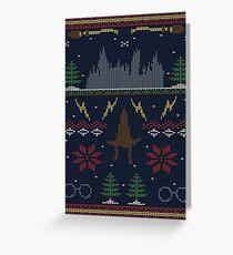 Hässlicher Potter-Weihnachtsstrickjacke Grußkarte