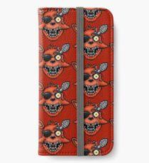 Fünf Nächte bei Freddy 2 - Pixel Kunst - Foxy iPhone Flip-Case/Hülle/Klebefolie