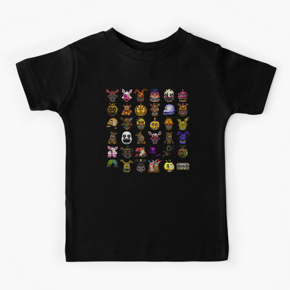 Five Nights at Freddy's - Pixel art - Multiple Characters New Set Kids T-Shirt
