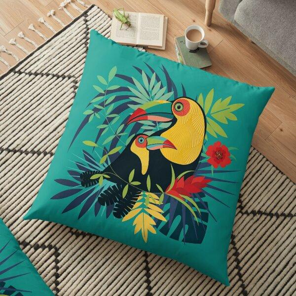 Toucan Tropical Coussin de sol