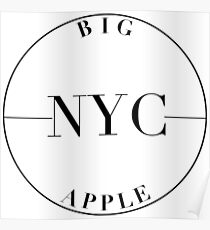 NYC Big Apple Poster