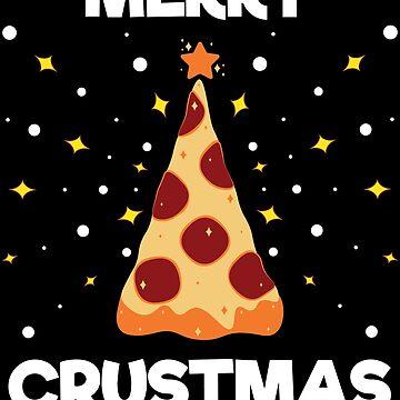 Pepperoni Pizza Slice Christmas Tree Pizza Party Lover Fan by ZNOVANNA