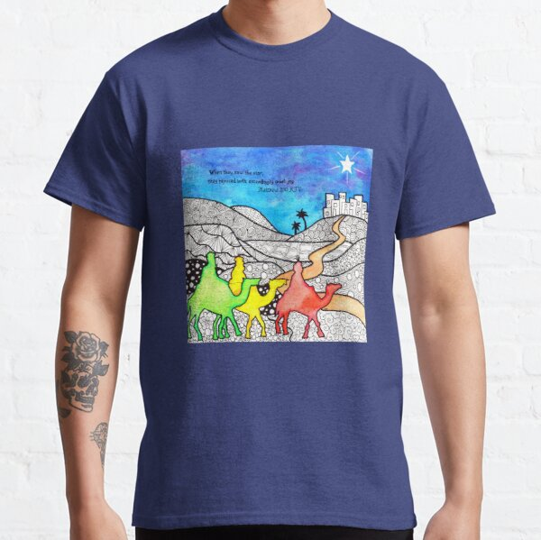 Watercolor Doodle   Three Wise Men Classic T-Shirt
