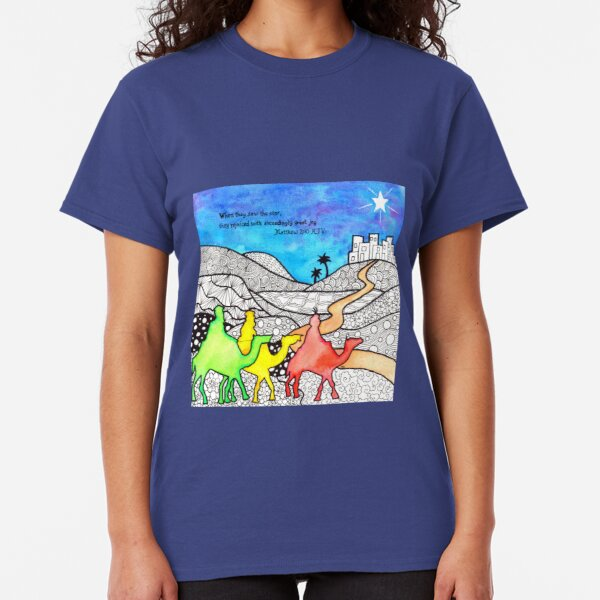 Watercolor Doodle | Three Wise Men Classic T-Shirt