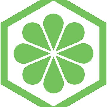 Geometric Pattern: Hexagon Flower: Green/White by redwolfoz