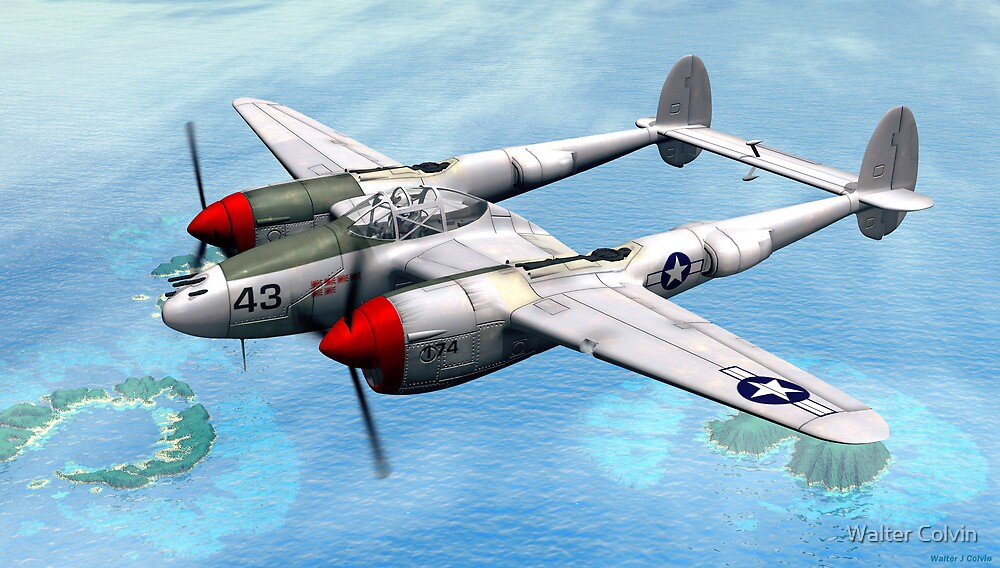 Lockheed P-38 Lightning  by Walter Colvin