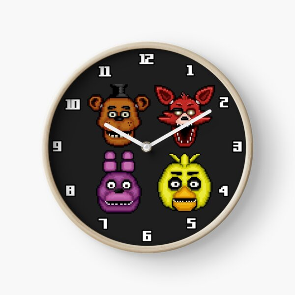 Five Nights at Freddy's 1 - Pixel art - The Classic 4 Clock