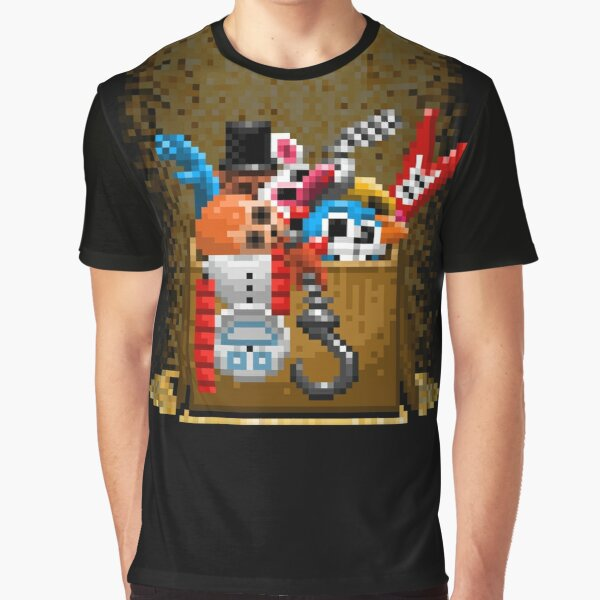 Five Nights at Freddy's 3 - Pixel art - What can we use? - Box of animatronics Graphic T-Shirt