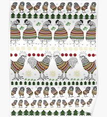 Christmas Chicken Knit  Poster