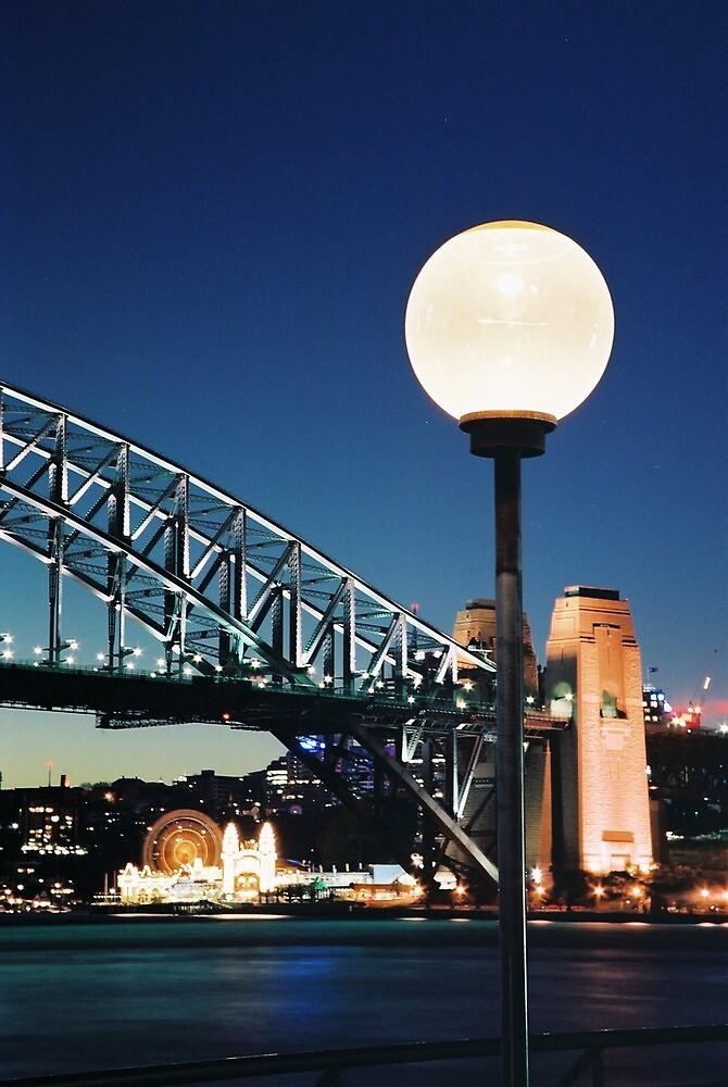 North Sydney & Luna Park by Mal Wood