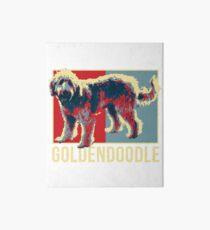 Cute Goldendoodle Dog Tshirt Art Board