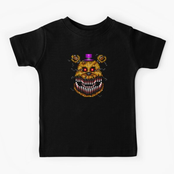 Five Nights at Freddys 4 - Nightmare Fredbear - Pixel art Camiseta para niños