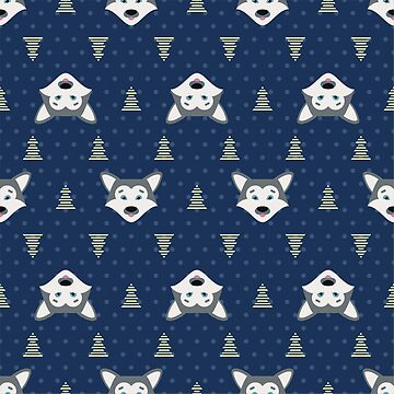 Pattern with wild wolfs by alijun
