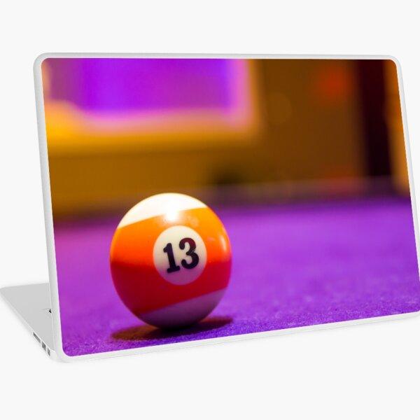 Billiard balls in a pool table Laptop Skin