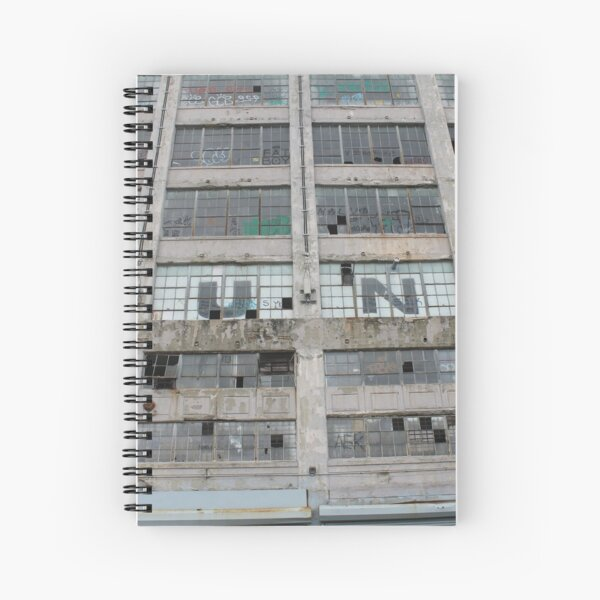 #architecture #modern #business #window #concrete #office #facade #city #apartment #finance #horizontal #colorimage #wide #builtstructure #glassmaterial #constructionindustry #nopeople #building Spiral Notebook