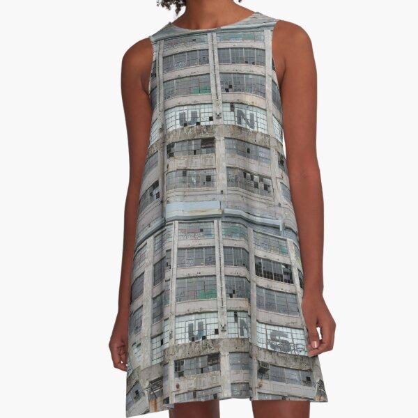 #architecture #modern #business #window #concrete #office #facade #city #apartment #finance #horizontal #colorimage #wide #builtstructure #glassmaterial #constructionindustry #nopeople #building A-Line Dress