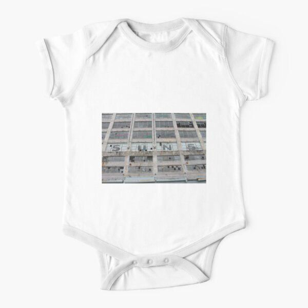 #architecture #modern #business #window #concrete #office #facade #city #apartment #finance #horizontal #colorimage #wide #builtstructure #glassmaterial #constructionindustry #nopeople #building Short Sleeve Baby One-Piece