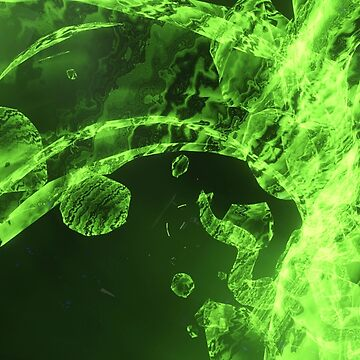 Green organic flow abstract art by Extreme-Fantasy