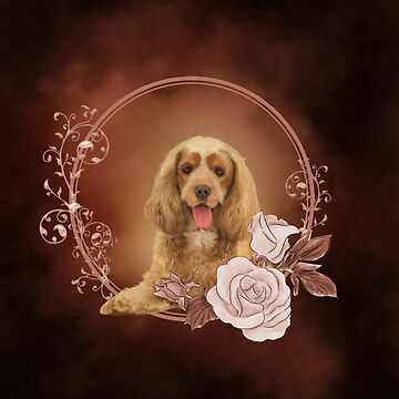 Cute cocker spaniel with roses by nicky2342