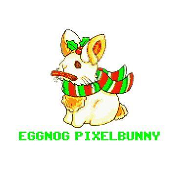 Eggnog Pixel Bunny by KabaTheBear