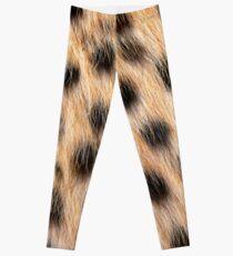 Animal Print Pattern Real Cheetah Fur Leggings