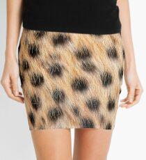 Animal Print Pattern Real Cheetah Fur Mini Skirt