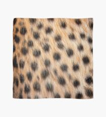 Animal Print Pattern Real Cheetah Fur Scarf