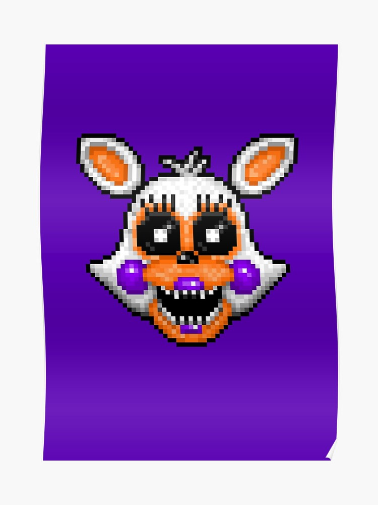 Lolbit Fnaf World Pixel Art Poster