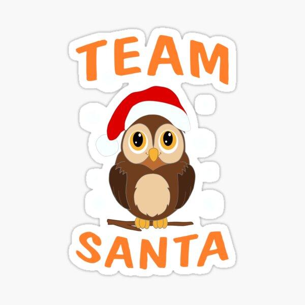 Team Santa Baby Eule für Service Crews Sticker