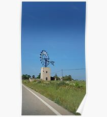 windmill - mill - europe - eco - landscape - gift Poster